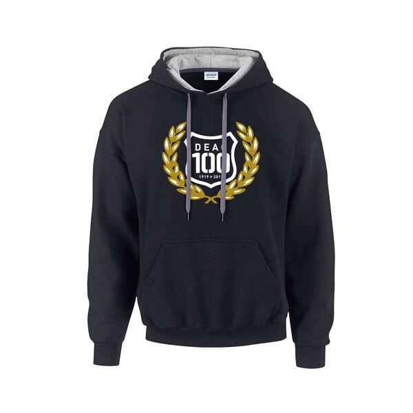 DEAC 100 fekete-arany bebújós pulóver XXL