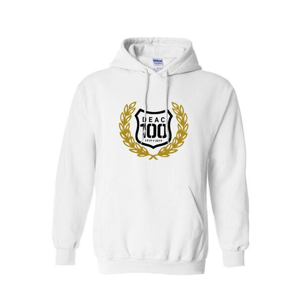 DEAC 100 fehér bebújós pulóver S