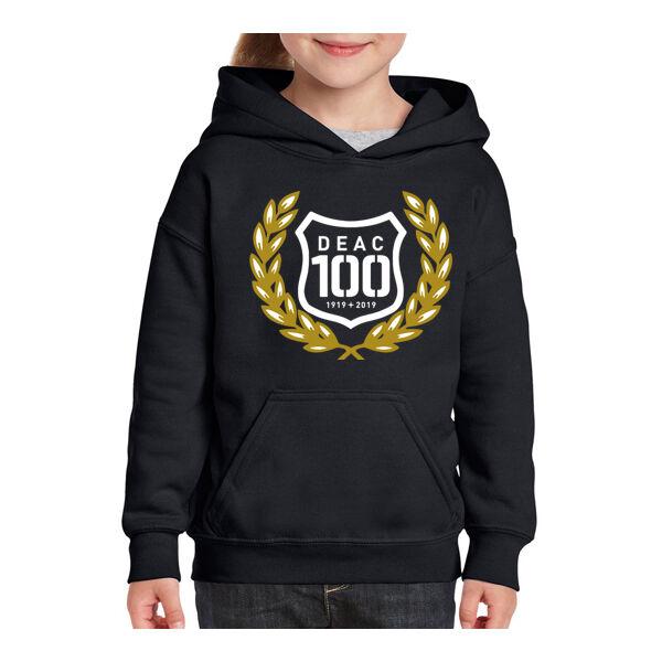 DEAC 100 fekete-arany bebújós pulóver XS