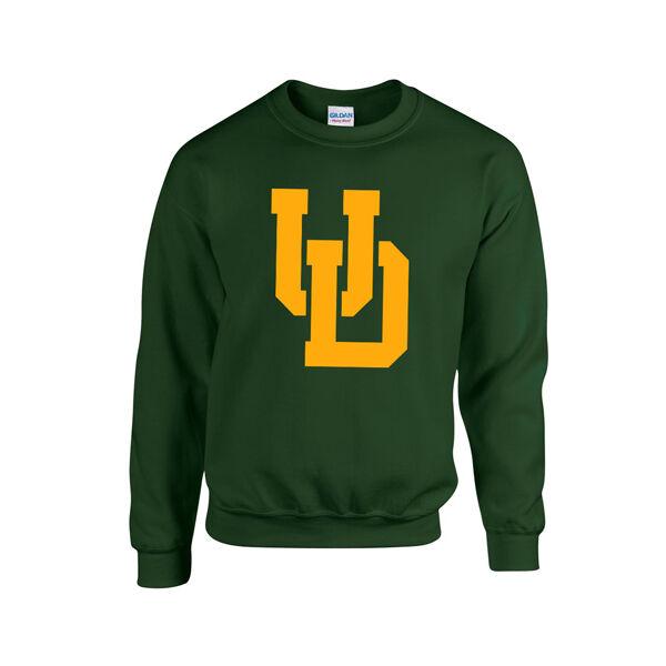UD sötétzöld környakú pulóver L